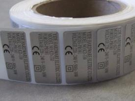 Printed aluminum label