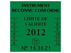 Security label for scales and weighing instruments