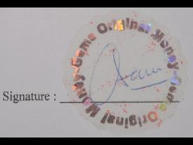 Signature authentication seal