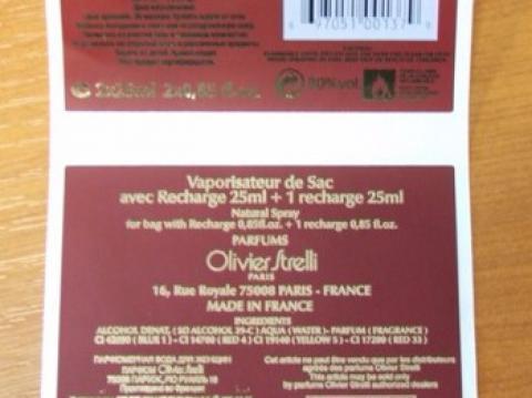Gilding printed label